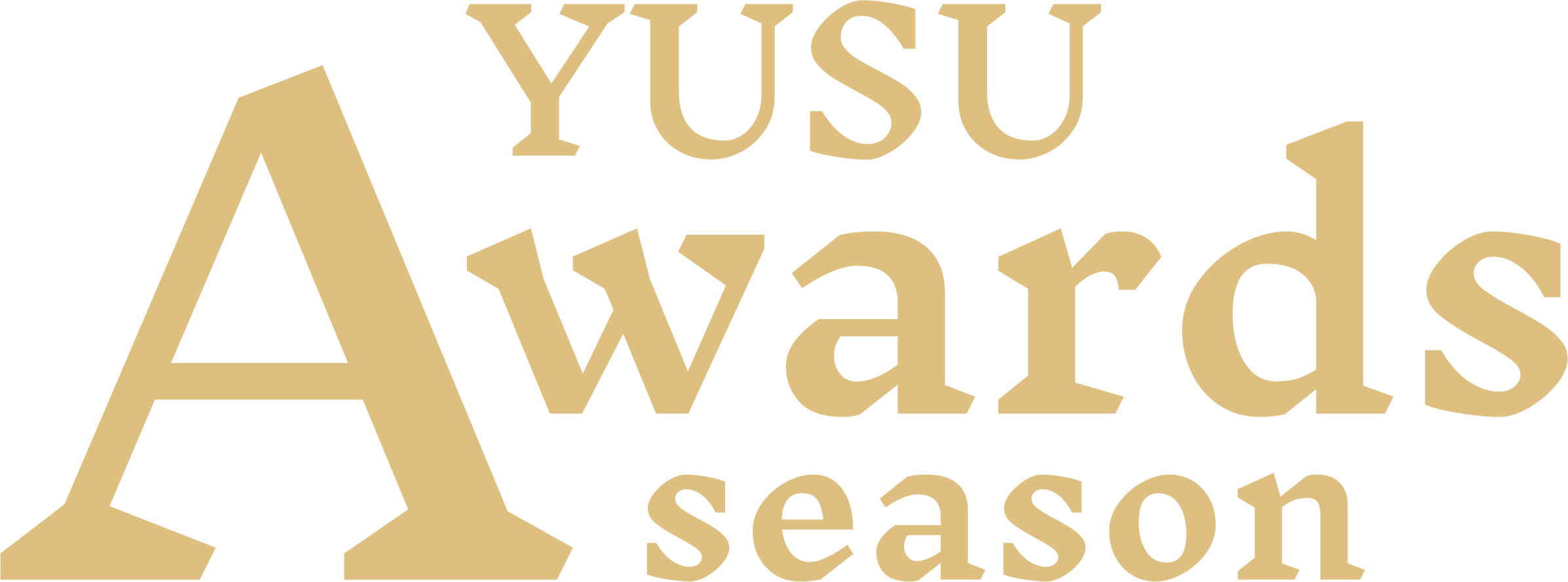 YUSU awards season logo